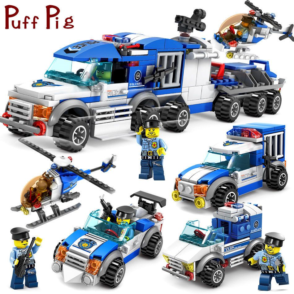 Figure 8 Cars For Sale: 367pc-City-Special-Police-Series-SWAT-with-Truck-Station