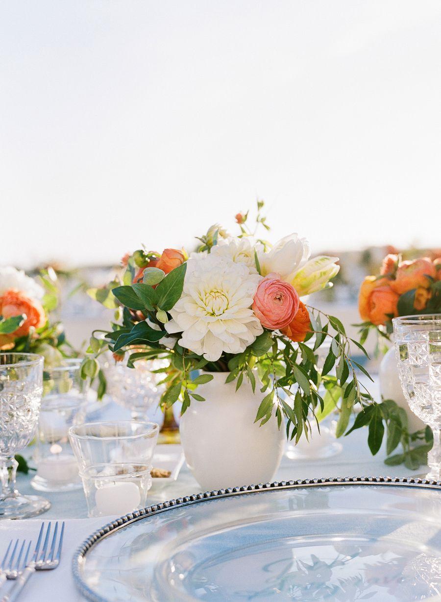 Photography : Joel Serrato | Floral Design : Kathleen Deery Design Read More on SMP: http://www.stylemepretty.com/2016/02/26/elegant-seaside-wedding-with-a-pop-of-orange/