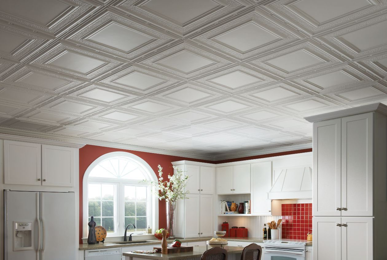 Ceiling Ideas Ceiling Design By Armstrong Ceiling Tiles Tin Ceiling Kitchen Tin Ceiling Tiles