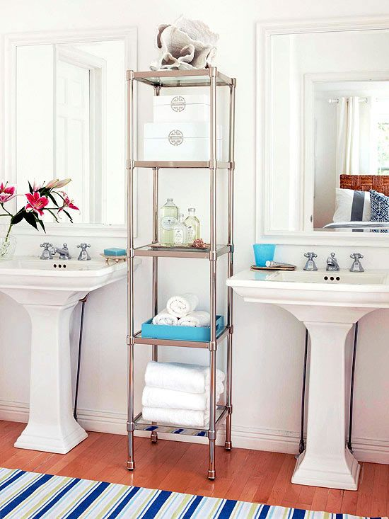 Small Bathroom Solutions | Creative storage, Bathroom storage and ...