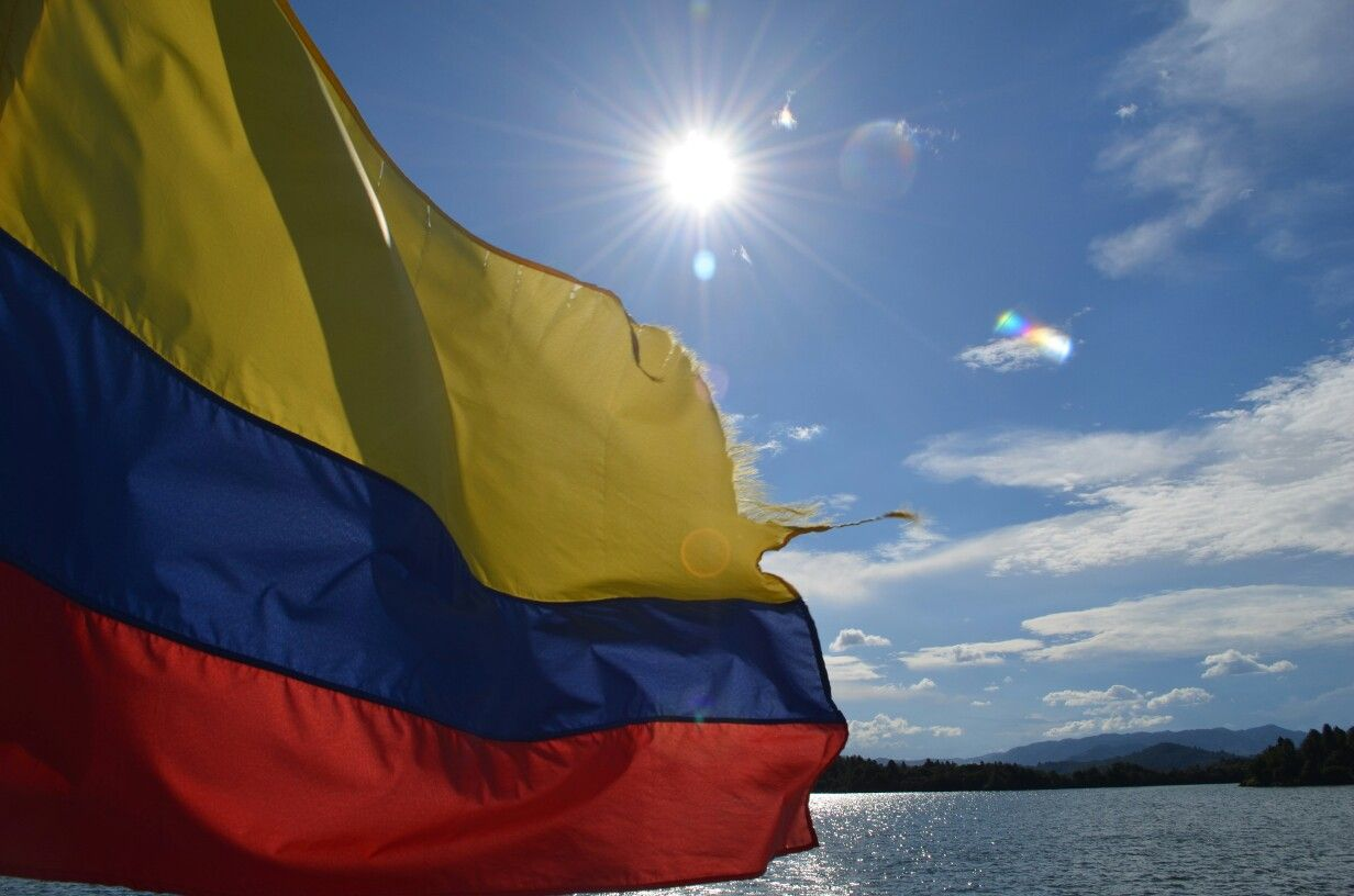 Yellow + blue + red = Colombia