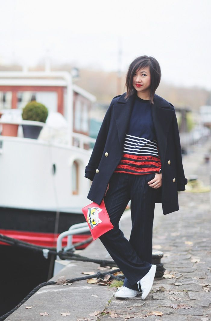 Tokyobanhbao in a women's sweatshirt from our Cédric Charlier + Petit Bateau collection - http://www.petit-bateau.fr/e-shop/product/14964/7V5/sweat-shirt-femme-contrastee-cedric-charlier.html?CMP=SOC_22067&SOU=ptb&TYP=SOC&KW=charlier #petitbateau #cedriccharlier #tokyobanhbao