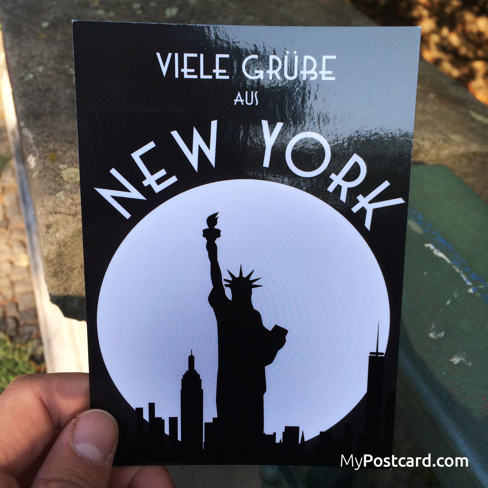 Greeting From New York English Viele Gre Aus New York Deutsch