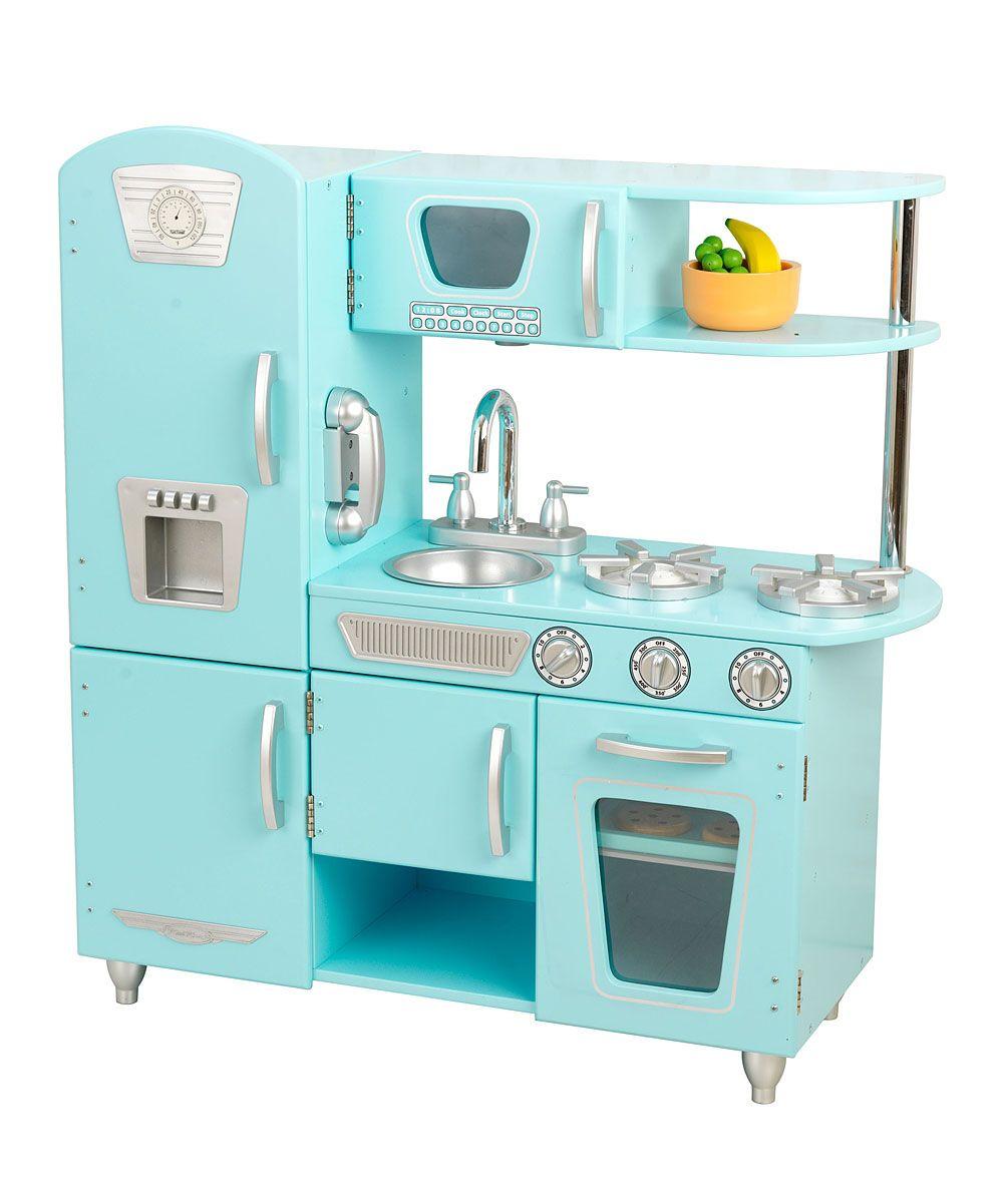 Kidkraft Blue Vintage Play Kitchen Set By
