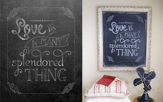 "Say ""I Love You"" with Valentine's Day Chalkboard Printables — Brenda's Wedding Blog - affordable wedding ideas for planning elegant weddings"