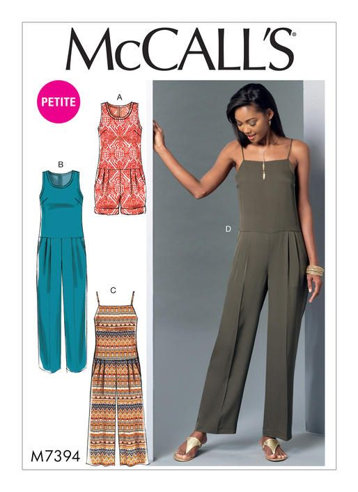 On-trend, drop-waist jumpsuit and romper sewing pattern from ...