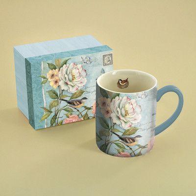 14 oz. Cottage Bird Mug   Wayfair