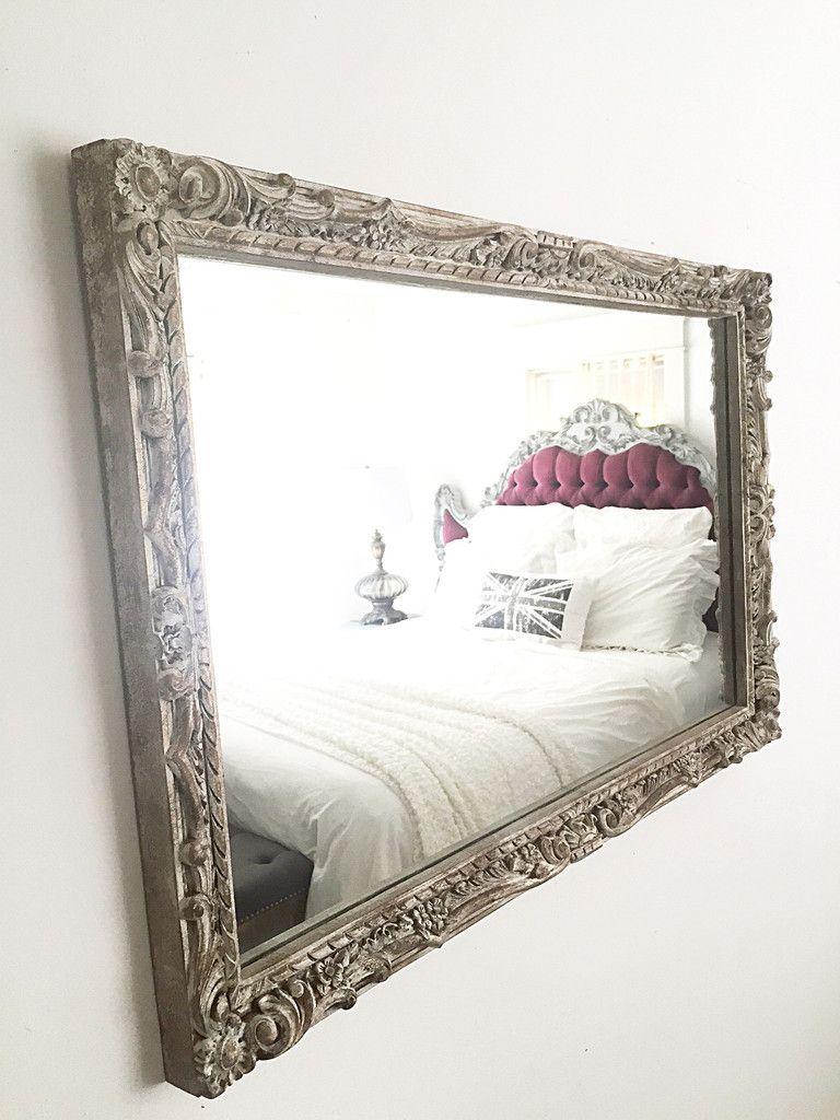 Large Wall Mirror Elegant Baroque Leaning