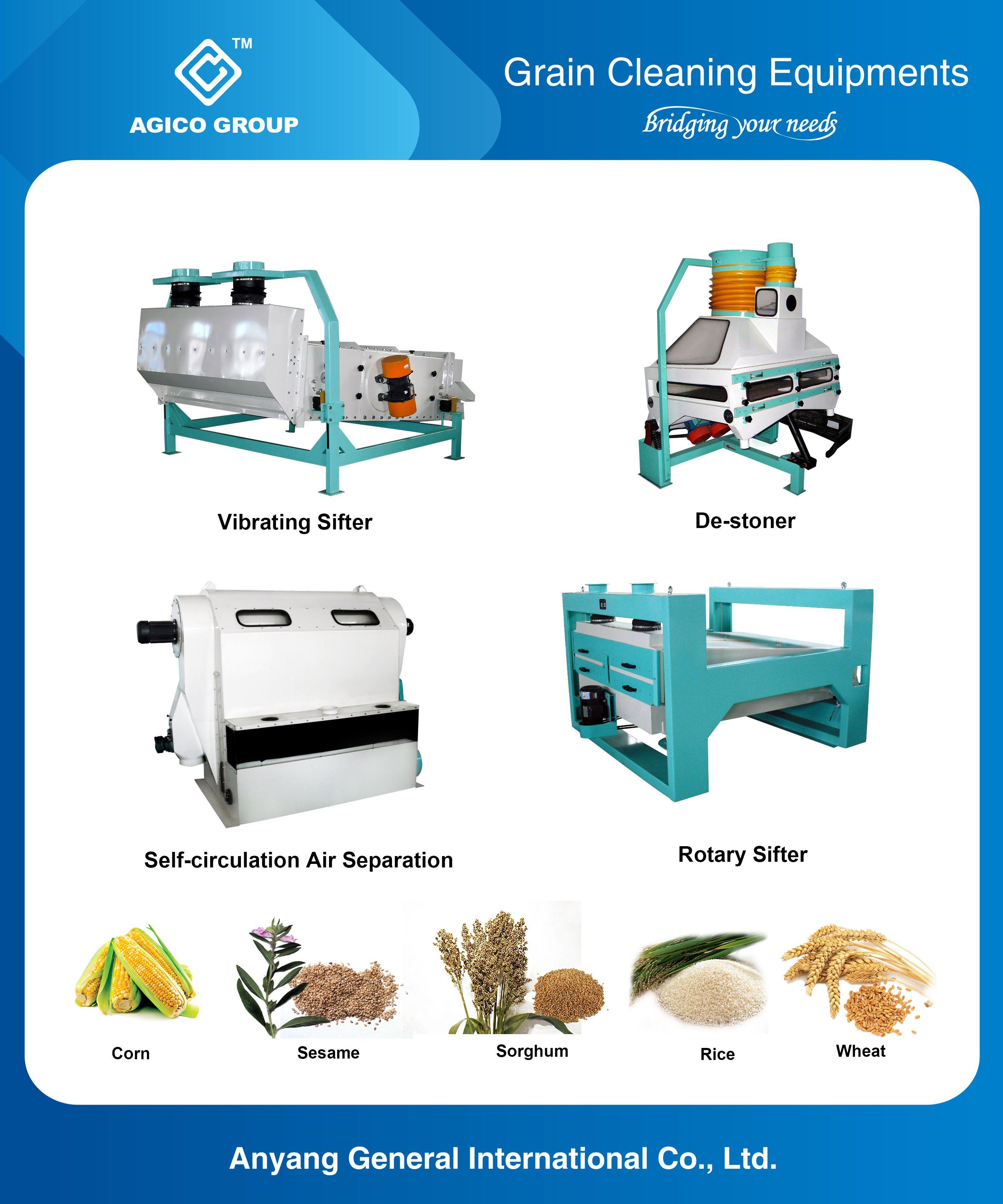 Vibrating Sifter De Stoner Self Circulation Air Separation Rotary Sifter Grain Mill Plant Flour Milling Machines Etc Grain Mill Sifter Milling Machines