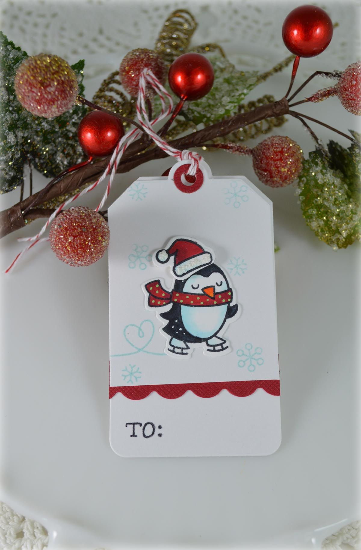 Penguin Tag***Mixing Lawn Fawn Products - Scrapbook.com | Tag You\'re ...