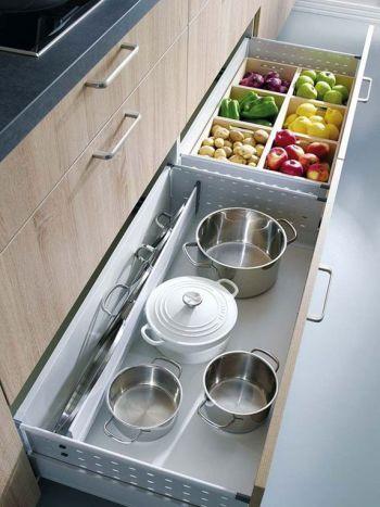 Ideas para mantener la cocina en orden   Almacenamiento extra ...