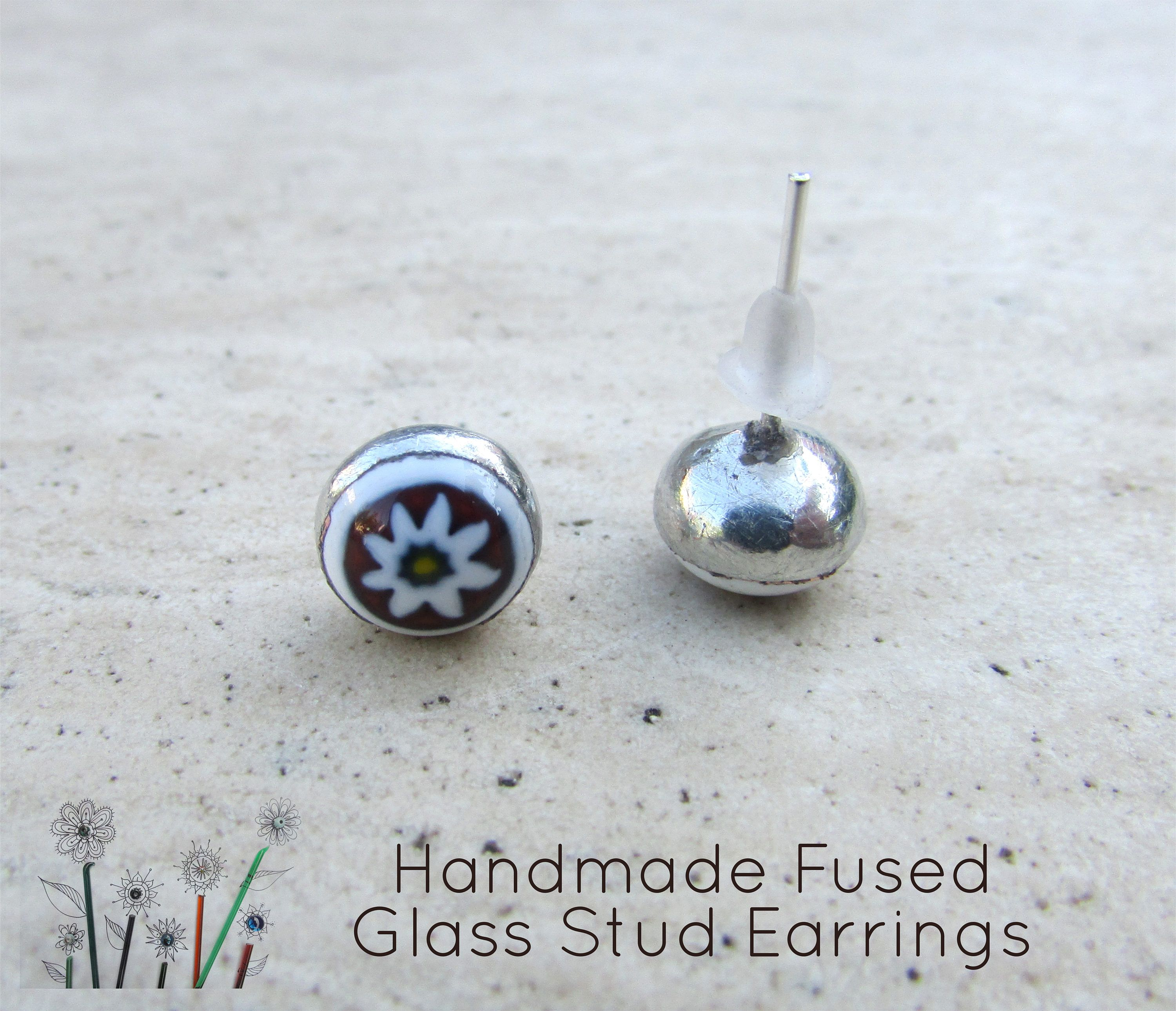 fullxfull fused earrings colourful stud gift glass filler il jewellery christmas small green p stocking bmqi unique simple