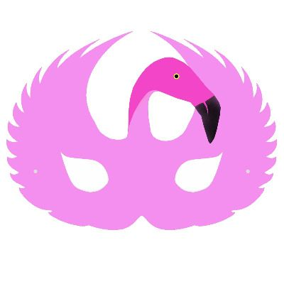 This pink flamingo children 39 s face mask is designed by and for Swan mask template