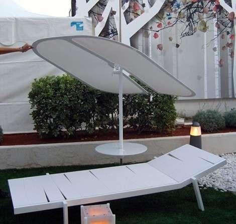 Transforming Suitcase Parasol Loungers : Umbrella Chair