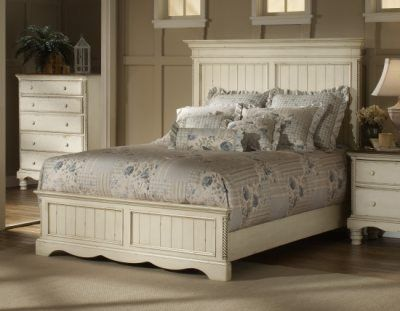 Vintage queen size bed frame wilshire white queen size - Cool queen bed frames ...