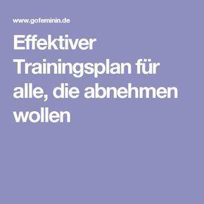 effektiver trainingsplan zum abnehmen