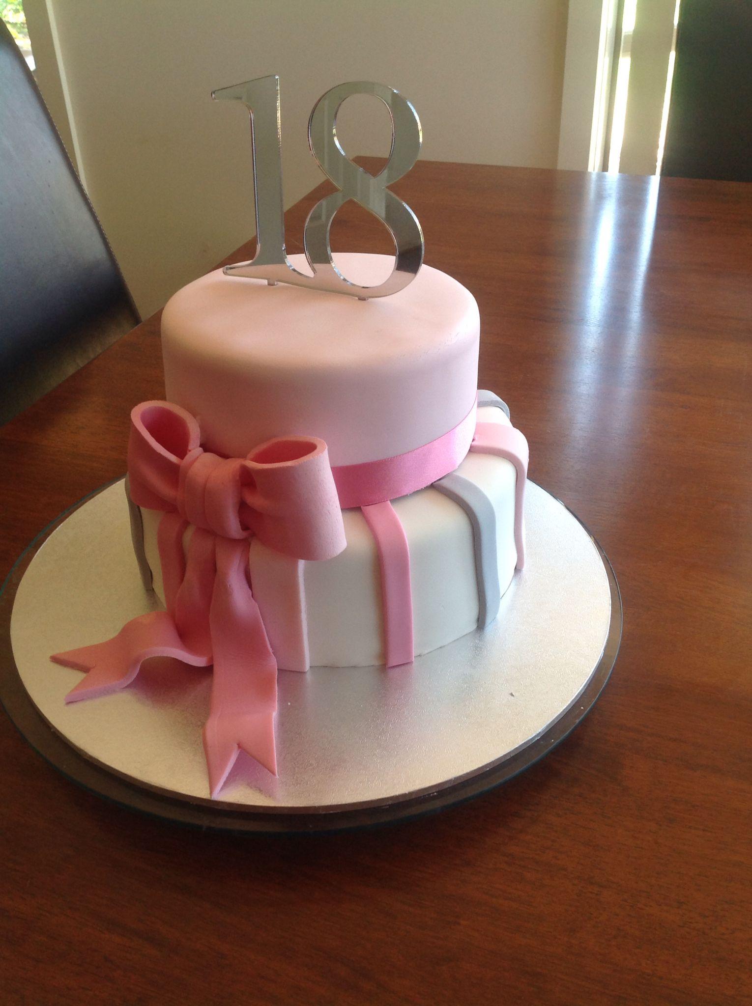 Female 18th Birthday Cake : female, birthday, Birthday, Girl,, Fondant, Girls,, Designs,