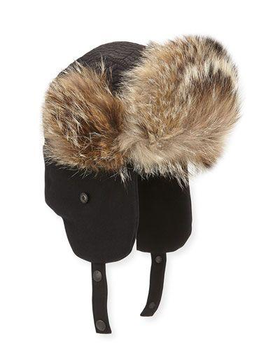 ca2df074045 N3DUT Moncler Fur-Trim Trapper Hat