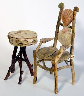 Miniature Rustic Twig Furniture By George C. Clark