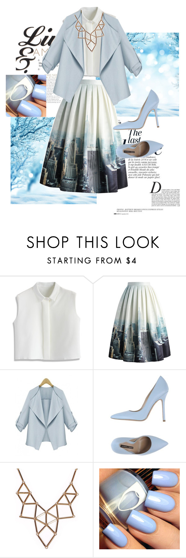 """""""windy city"""" by valenzuel ❤ liked on Polyvore featuring Anja, Chicwish, Norma J.Baker and Chicnova Fashion"""