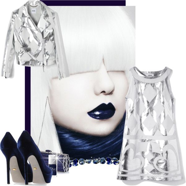 """""""★ Blue Velvet ★ and ★ Sterling Silver ★"""" by shazgoldcoast ❤ liked on Polyvore"""