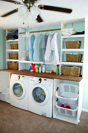 11 Platzspar Tricks für Waschmaschine und Co