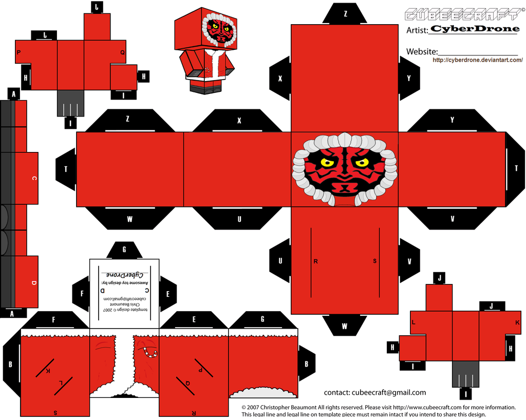 Custom star wars cut out templates of paper toys i 39 ve made for Paper star cut out template