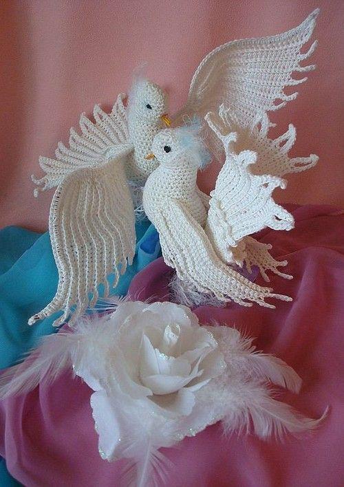 Mis palomas en crochet – ¿Quieres hacerlas? – Paso a paso grátis ...