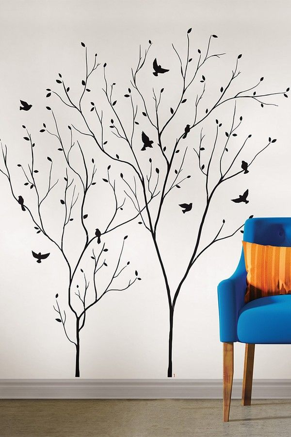 This Contemporary Wall Decor Brings A Beautiful Perspective To Your Room A Chic Tree Silhouette Ado Creative Wall Painting Wall Decals Contemporary Wall Decor