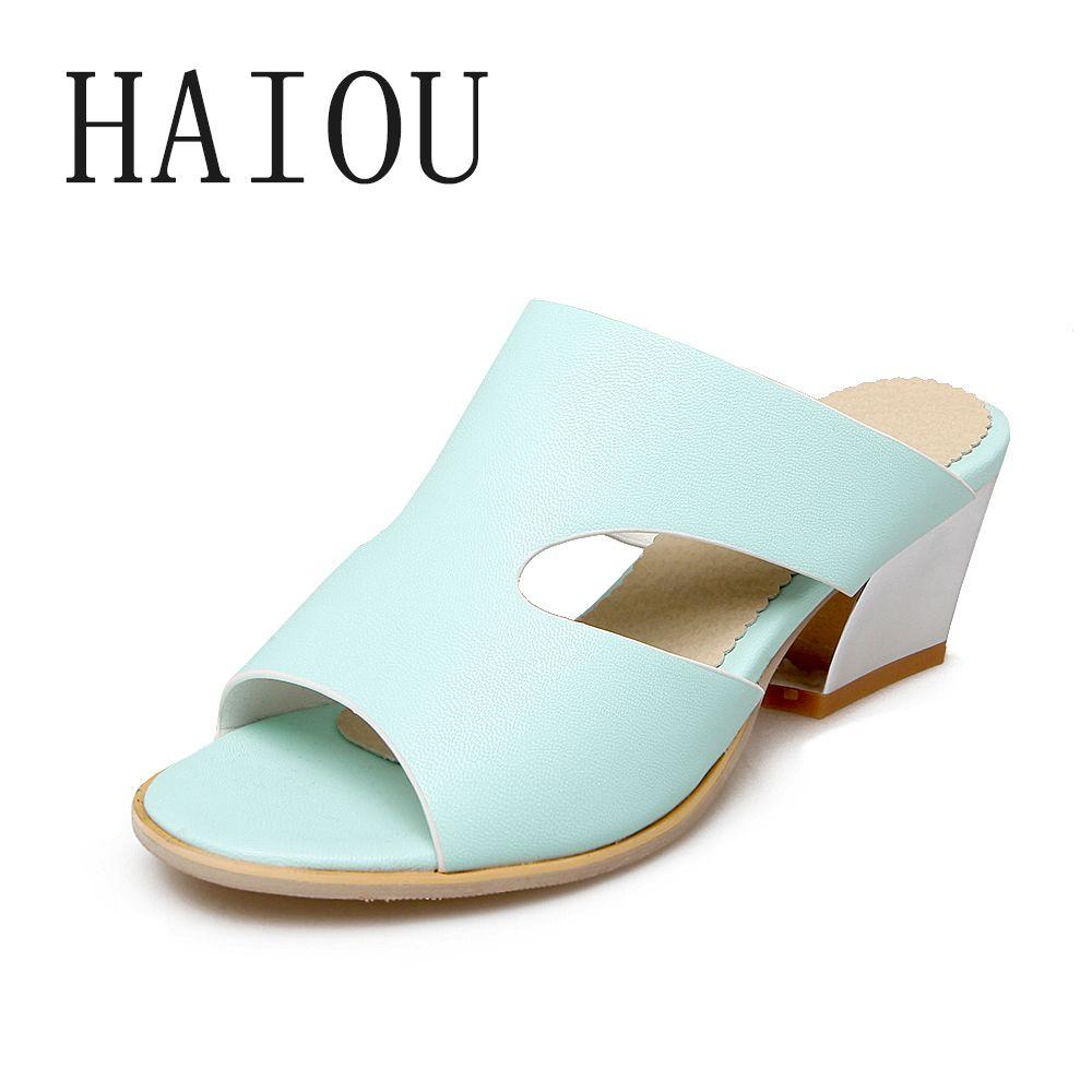 European sandals shoes - Fashion Rome 2017 Summer European Thong Flip Flop Sandals Elegant Chunky Mid Heels Dating Dress Shoes