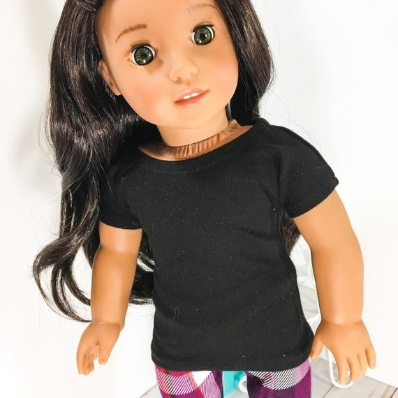 18 inch Doll clothes - black basic tee