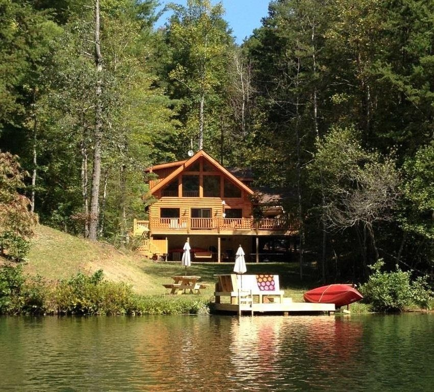 Lake Lure Cabin Rental: Lake Lure Area  Gorgeous  Waterfront On Mirror Lake  In Home Design Ideas