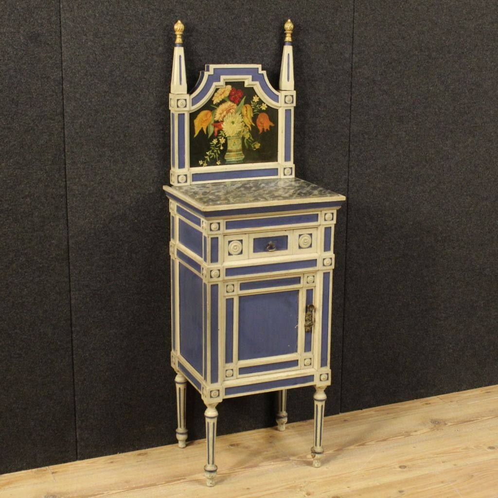 italian lacquer furniture. 800\u20ac Italian Lacquered And Painted Night Stand In Louis XVI Style. Visit Our Website Www.parino.it #antiques #antiquariato #furniture #golden #antiquities Lacquer Furniture