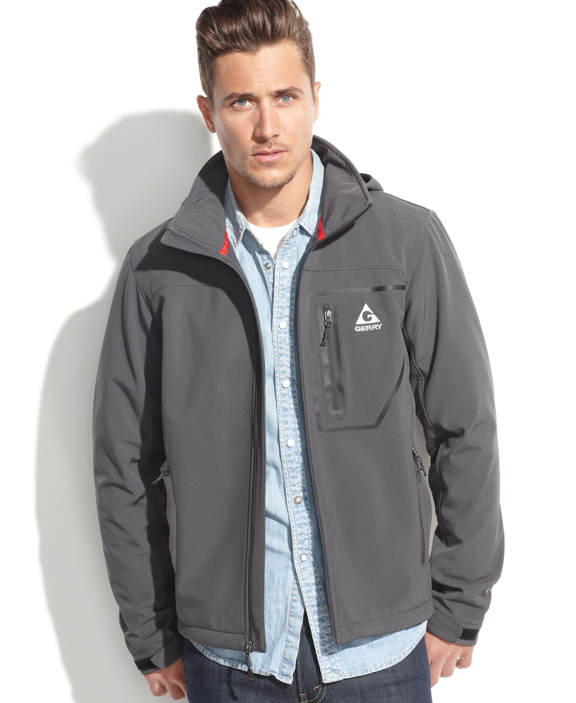 Gerry Mineral Hooded Soft-Shell Performance Jacket