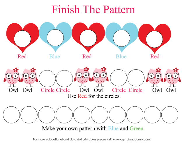 Valentine Heart Preschool Do A Dot Printables