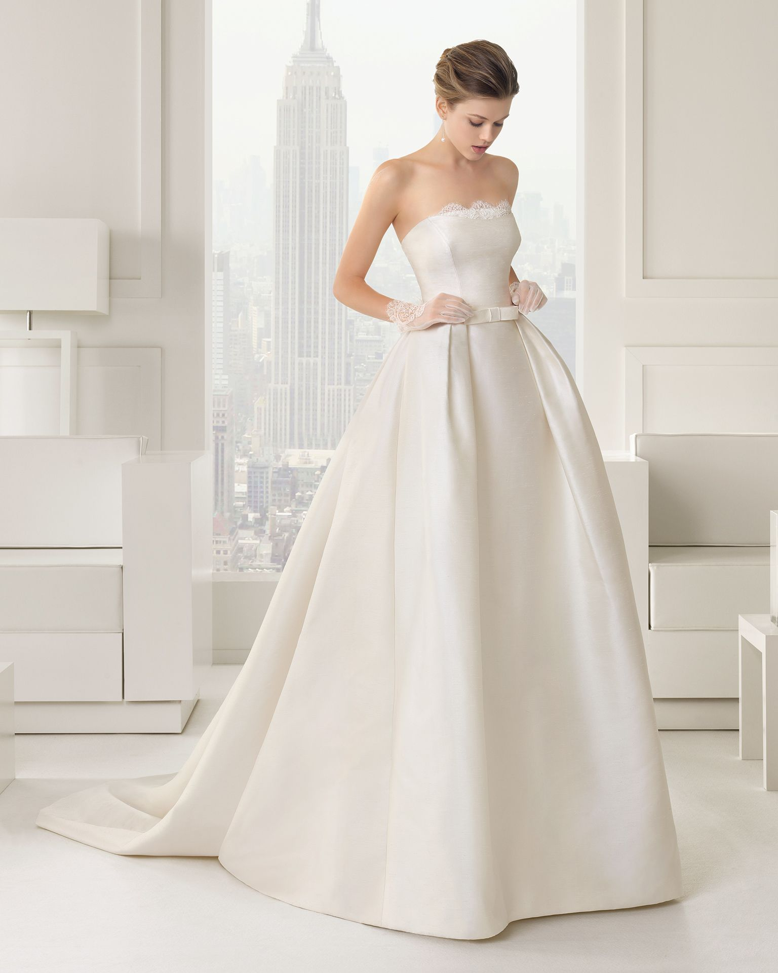 Simple Elegant 2015 Women Summer Wedding Dresses Flowing: Rosa Clara Wedding Dresses 2015