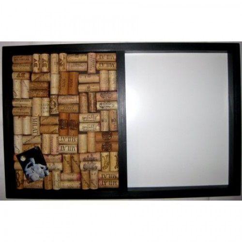 Dry Erase/Bulletin Board From Wine Corks