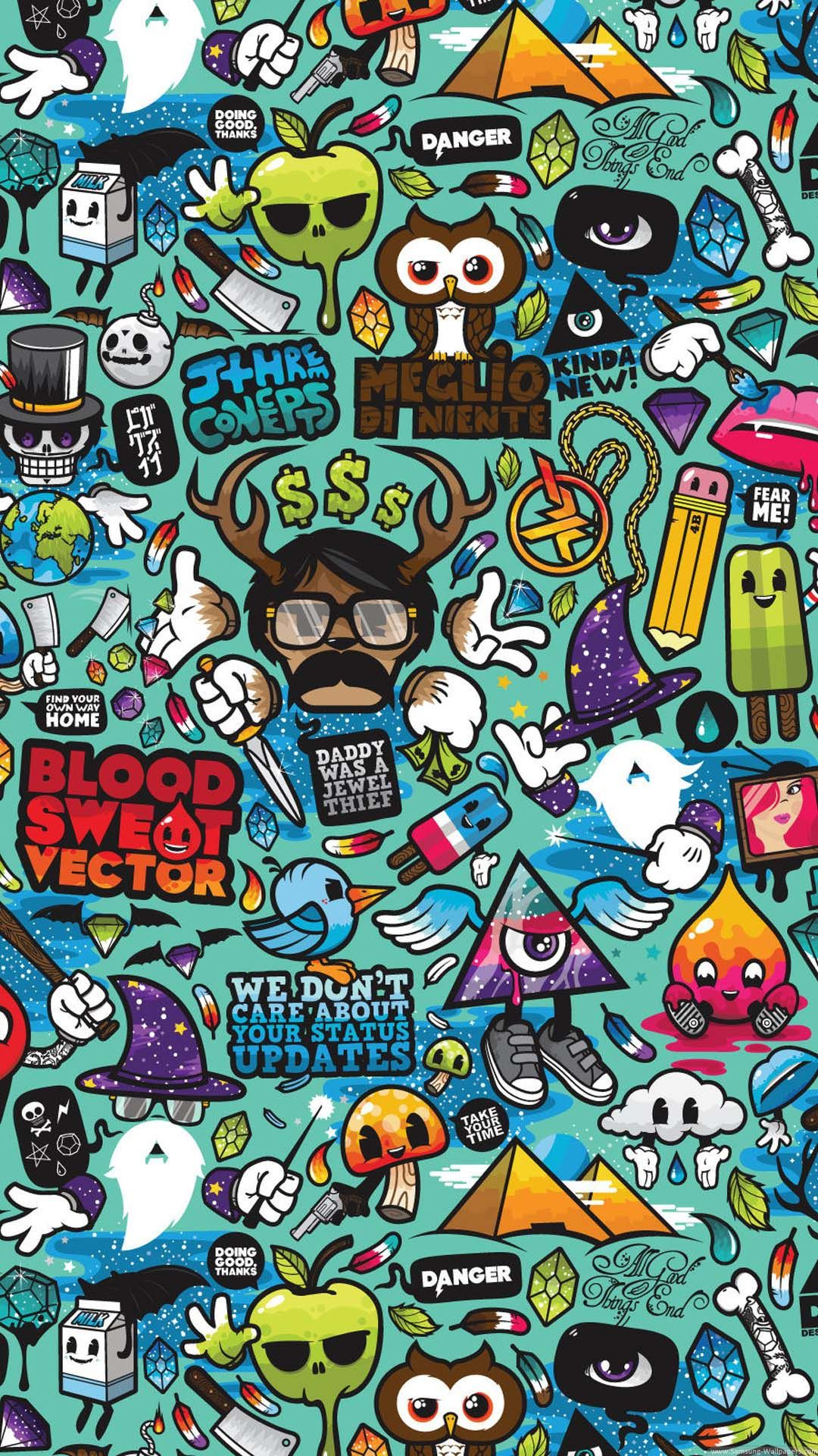 Abstract Cartoons Colorful HTC e wallpaper Pinterest
