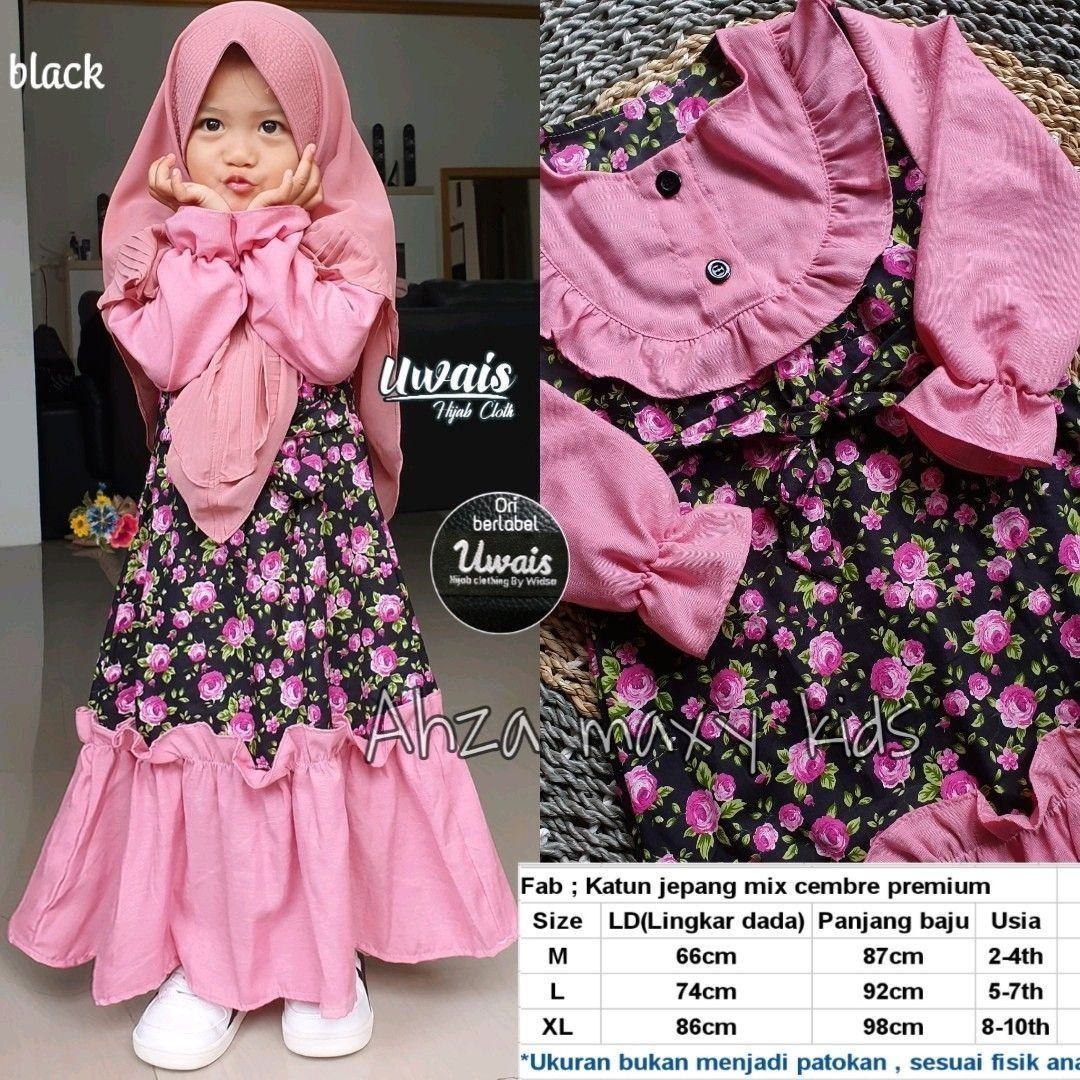 Gamis Anak in 8  Baby girl dress patterns, Baby girl clothes