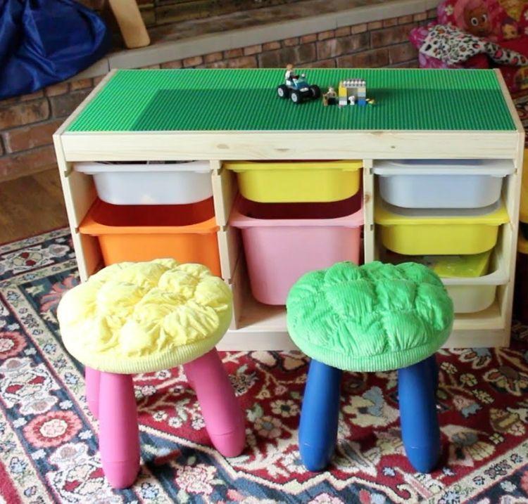 Spieltisch Selber Bauen Lego Platte Hocker Plastik Kisten