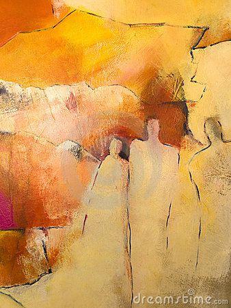 Voorkeur Het acryl schilderen van Abstratct van een groep mensen @SO74