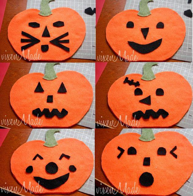 vixenMade Felt Jack-o-Lantern Activity Halloween 2 Pinterest - halloween activities ideas
