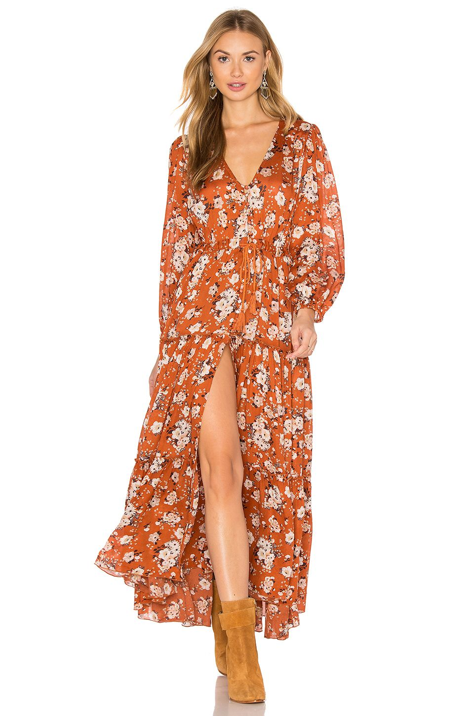 038261709a Spell & The Gypsy Collective Gypsy Dancer Dress in Maple | REVOLVE ...