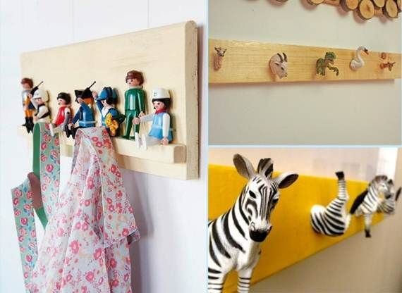 42 Diy cool ideas for wall hooks and hangers