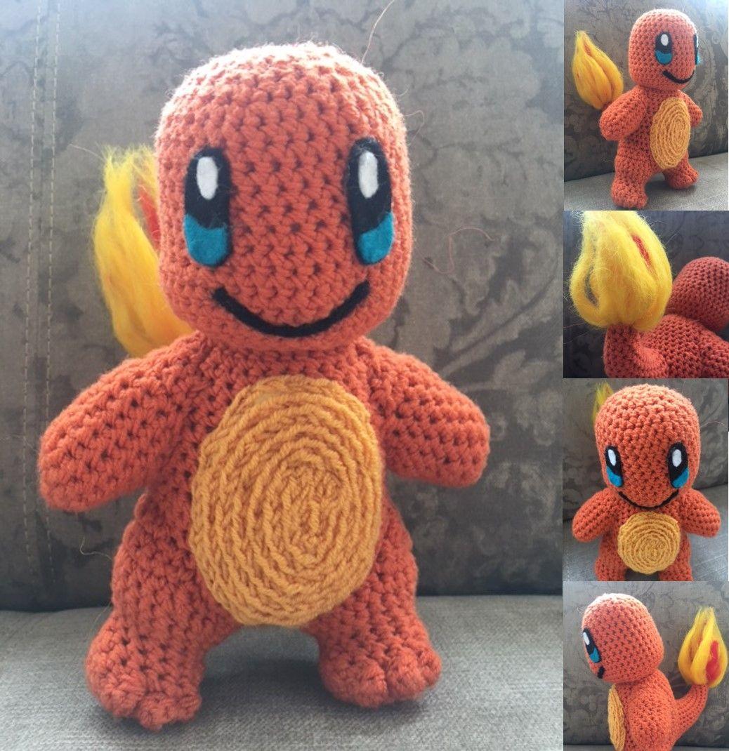 FREE PATTERN. Glumanda / Charmander crochet amigurumi dragon drachen ...