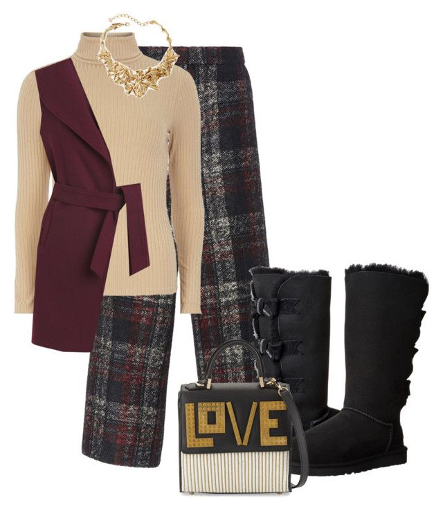 """""""Cold Weather Outfits"""" by belldraw ❤ liked on Polyvore featuring Rochas, mel, White House Black Market, Oscar de la Renta, UGG Australia, Les Petits Joueurs, women's clothing, women's fashion, women and female"""