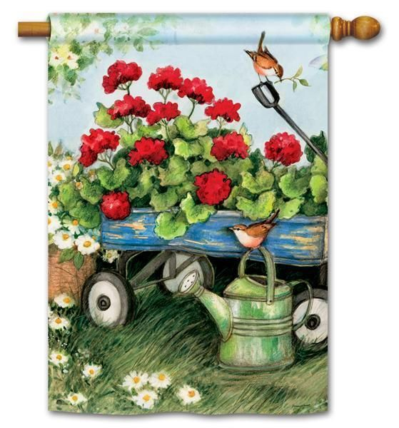 BreezeArt autumn decorative house flag Bushel of Apples adds eye-catching color to your fall outdoor yard & home decor.  Free Shipping on $49 orders