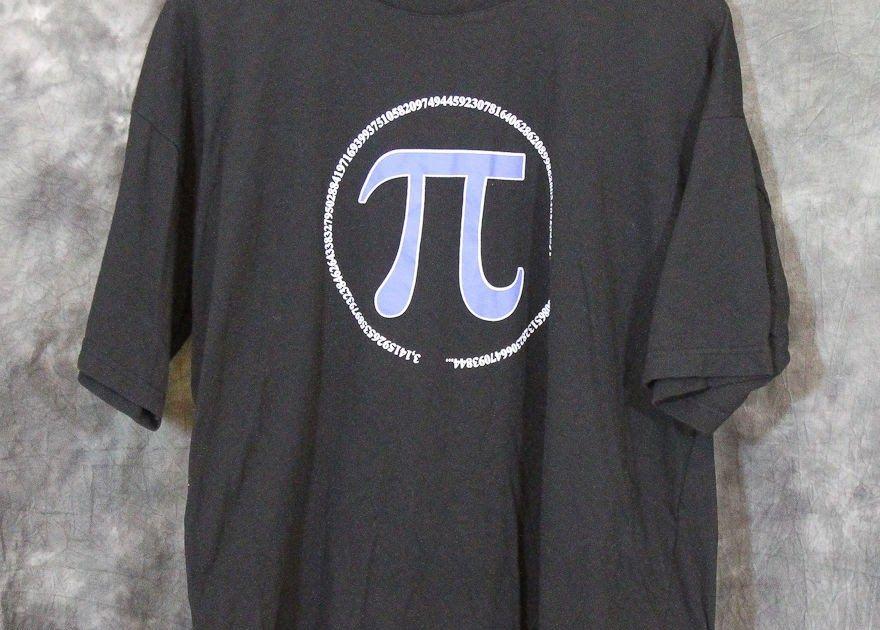 Pi Symbol π Science Math Geek Nerd T-shirt Black Size XL ...