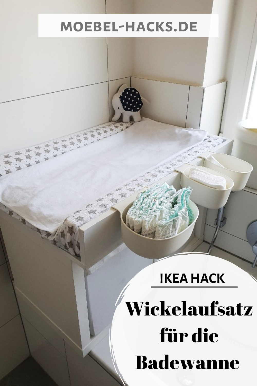 Wickelaufsatz Wickeltisch Fur Die Badewanne Aus Kallax Ikea Hack Wickelaufsatz Badewannen Wickelaufsatz Ikea Hack Wickelkommode