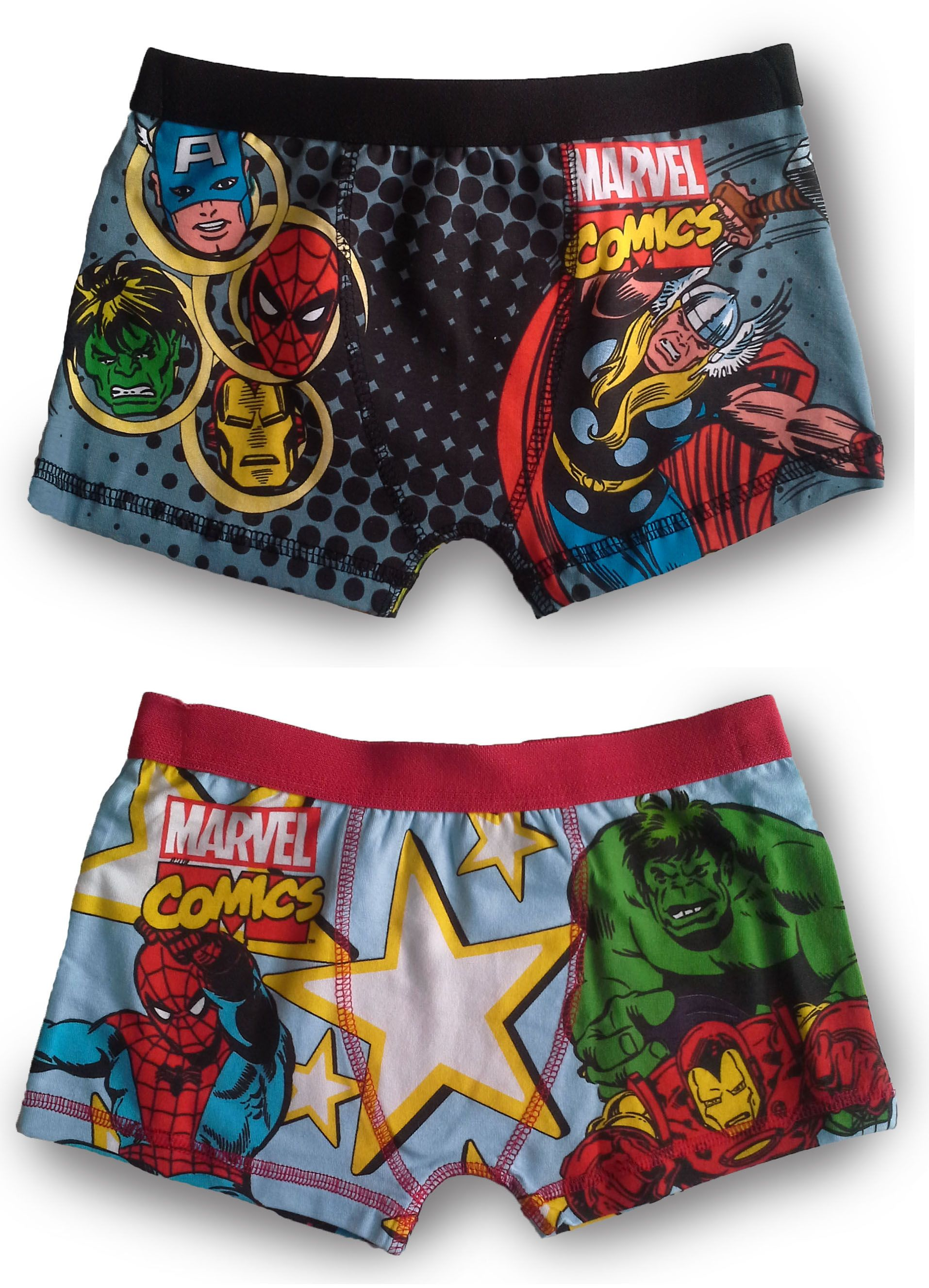 Marvel Avengers Boxer Shorts Underwear Superhero Comic Trunks Boys Kids Size